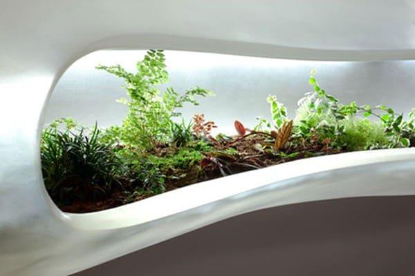 lobby planter display in natick massachusetts hotel